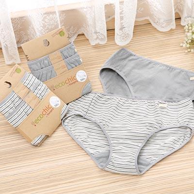 【黛安芬】eco chic 竹炭原棉系列 褲包兩件組M-EL(經典灰)
