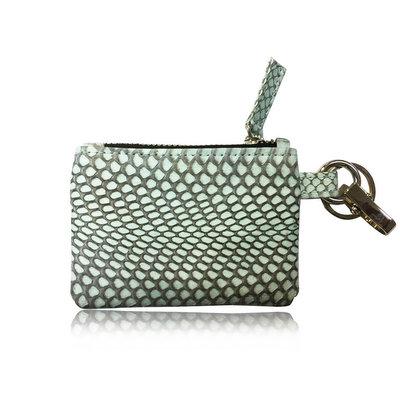 ACUBY 限量單品手工蛇皮鑰匙包/零錢包-淡抺綠