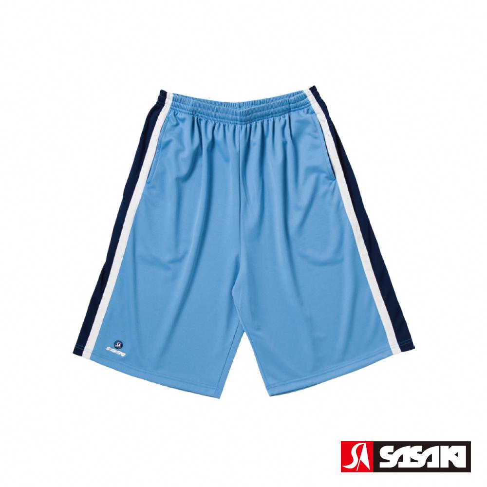 SASAKI 長效性吸排籃球短褲-男-北卡藍/丈青