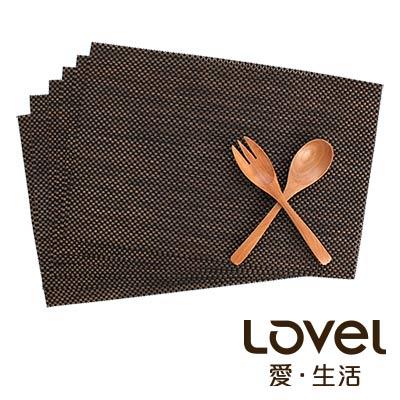 LOVEL 歐美風手作編織感餐墊-復古深咖(2入組)