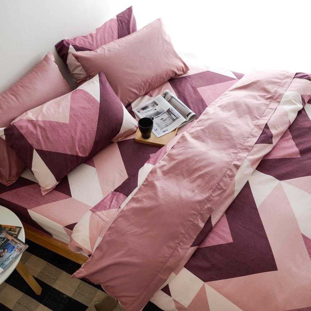 絲薇諾 笛卡兒 紅 標準雙人 薄被套床包四件組 精梳純棉