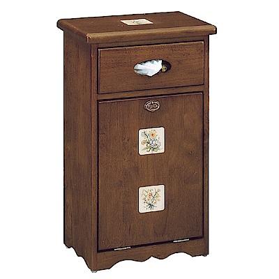 Bernice-磁磚方形實木垃圾桶面紙盒設計-42x29x75cm