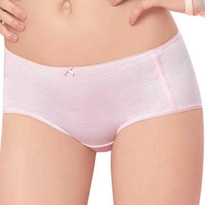 思薇爾 惹萌漾萌學趣系列M-XL印花中低腰平口內褲(歡樂粉)