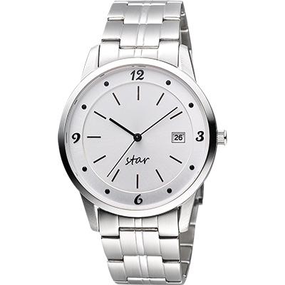STAR 藝術時尚簡約風情腕錶-銀/40mm