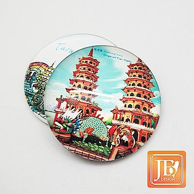 JB DESIGN-文創玻璃磁鐵-114_寧靜龍虎塔
