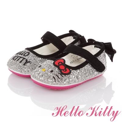 HelloKitty 高級超纖皮輕量減壓學步娃娃童鞋 銀色