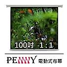 台灣專業製造~ PENNY PS-100(1:1) 100吋方型電動幕