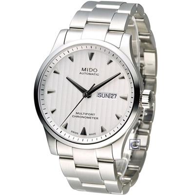MIDO 美度 Multifort系列簡約時尚機械錶-銀/42mm