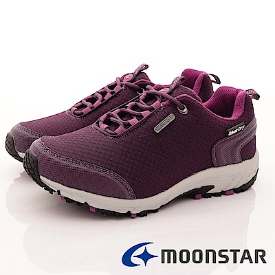日本Moonstar戶外健走鞋-銀離子4E寬楦款-DL029紫(女段)