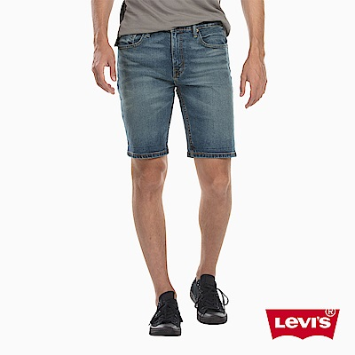Levis 男款 上寬下窄 502 Taper 牛仔短褲