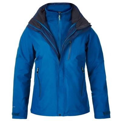 【Berghaus 貝豪斯】女款HS銀離子防水透氣兩件式外套H22F25藍
