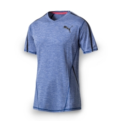 PUMA 男性訓練系列POWER短袖T恤-真實藍(麻花)