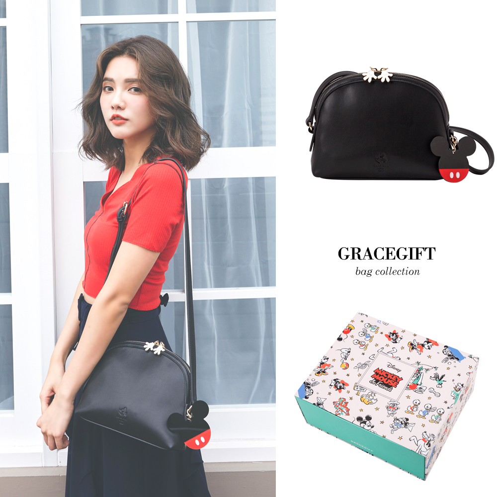 Disney collection by grace gift-米奇壓克力吊飾貝殼包