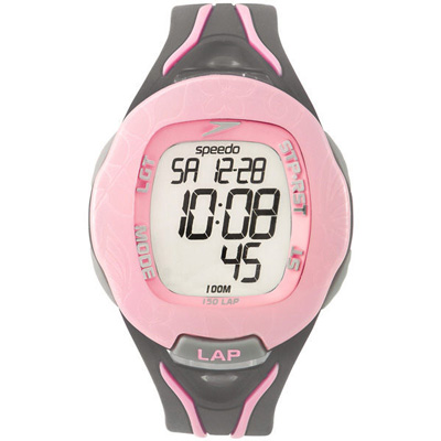 Speedo 時空跳躍電子腕錶-粉紅/40mm