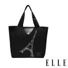 ELLE 鐵塔插畫環保摺疊購物袋- 經典黑 G52368