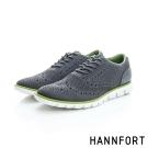 HANNFORT ZERO GRAVITY輕盈編織時尚牛津氣墊鞋-男-都會灰