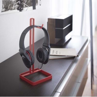 【YAMAZAKI】桌上型耳機掛架-紅★耳機架/包包架/香蕉掛架/耳機收納