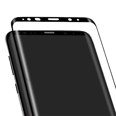 防摔專家Samsung Galaxy Note 8 新進化4D曲面鋼化玻璃貼(黑...