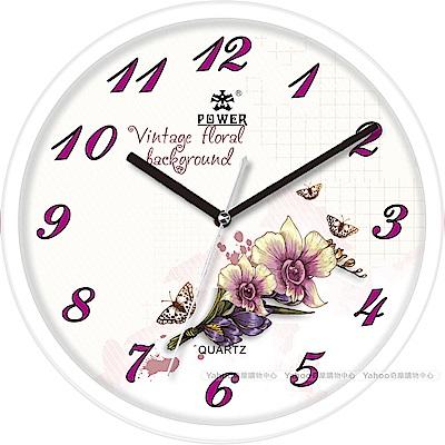 POWER霸王鐘錶-特色設計掛鐘-典雅白-PW-2911-WKS-30.8CM