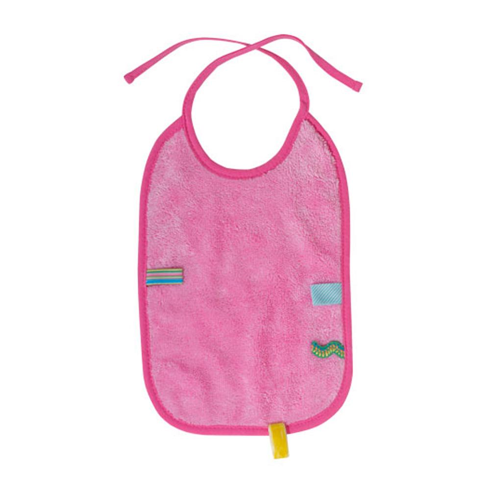荷蘭Snoozebaby 大尺寸綁帶式布標圍兜(粉紅色)
