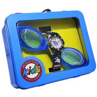 Jacques Farel Kids 潛水探險童錶禮盒組-黑/29mm