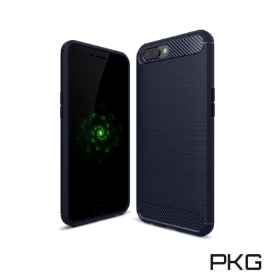 PKG  OPPO R11抗震防摔手機殼-碳纖維紋系列-紳士黑