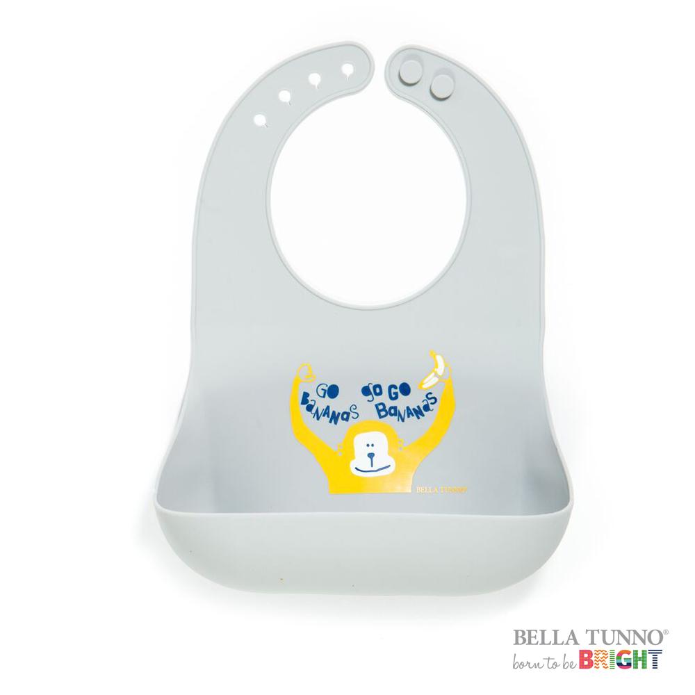 美國 BELLA TUNNO 寶寶矽膠圍兜兜 (愛玩小猴)