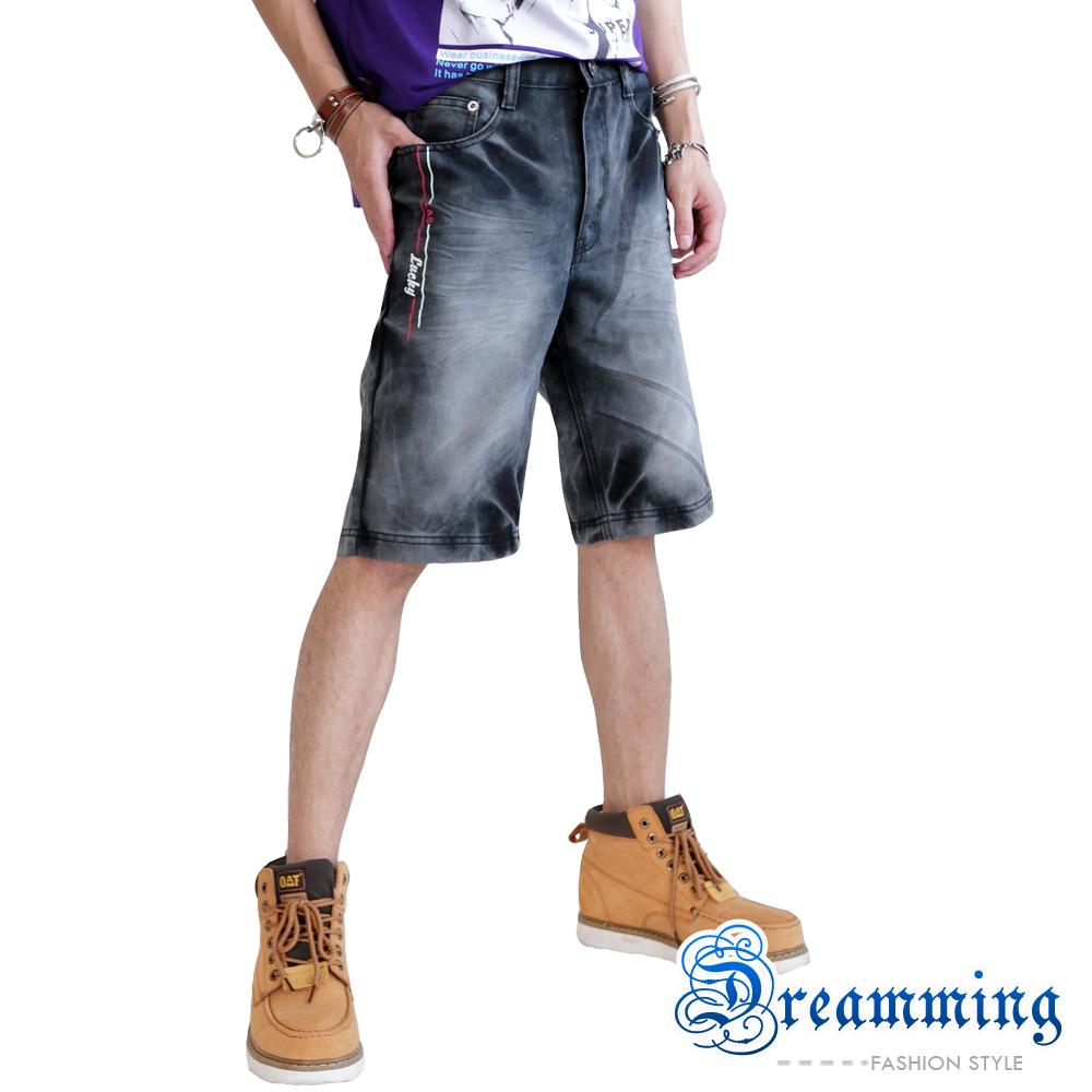 Dreamming 個性鬼洗渲染牛仔五分短褲