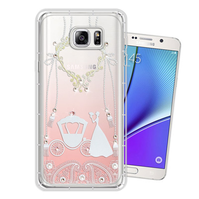 WT Samsung Galaxy Note5 奧地利水晶彩繪空壓手機殼(精靈捧...