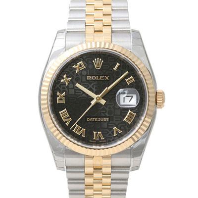 ROLEX 勞力士 DateJust 116233 蠔式恆動日誌型錶 -黑色紀念面/37mm