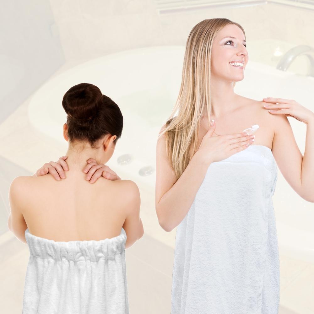 法式寢飾花季 純品良織-頂級SPA專用純棉厚織浴裙x2件組