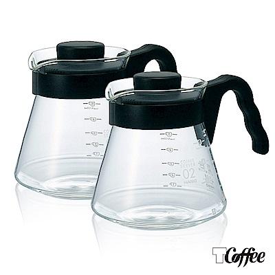 TCoffee HARIO-V60好握02耐熱黑色咖啡壺700ml超值2入組