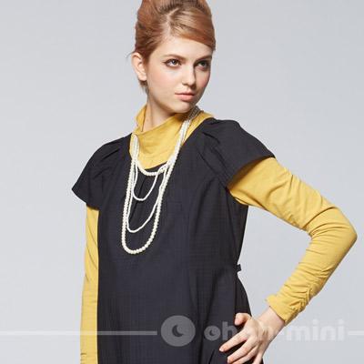 ohoh-mini低調格紋上班必買孕婦洋裝