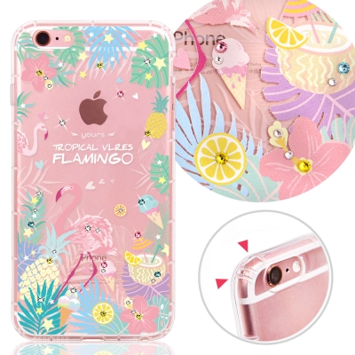 YOURS APPLE iPhone 6s Plus 奧地利水晶彩繪防摔手機殼-...