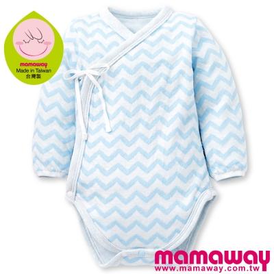 Mamaway-水波紋新生兒內著包屁衣-共三色