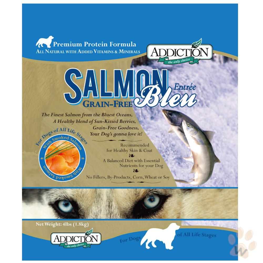 紐西蘭Addiction自然癮食 無穀藍鮭魚寵食犬糧1.8kg