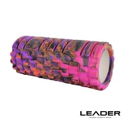 Leader X 專業塑身美體瑜珈棒 滾筒 按摩輪 紫迷彩 - 急速配