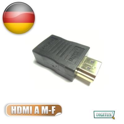 曜兆DIGITUS HDMI專用鍍金接頭(公對母)-黑色