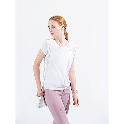 兩片式鏤空設計短袖上衣‧3色-OB嚴選
