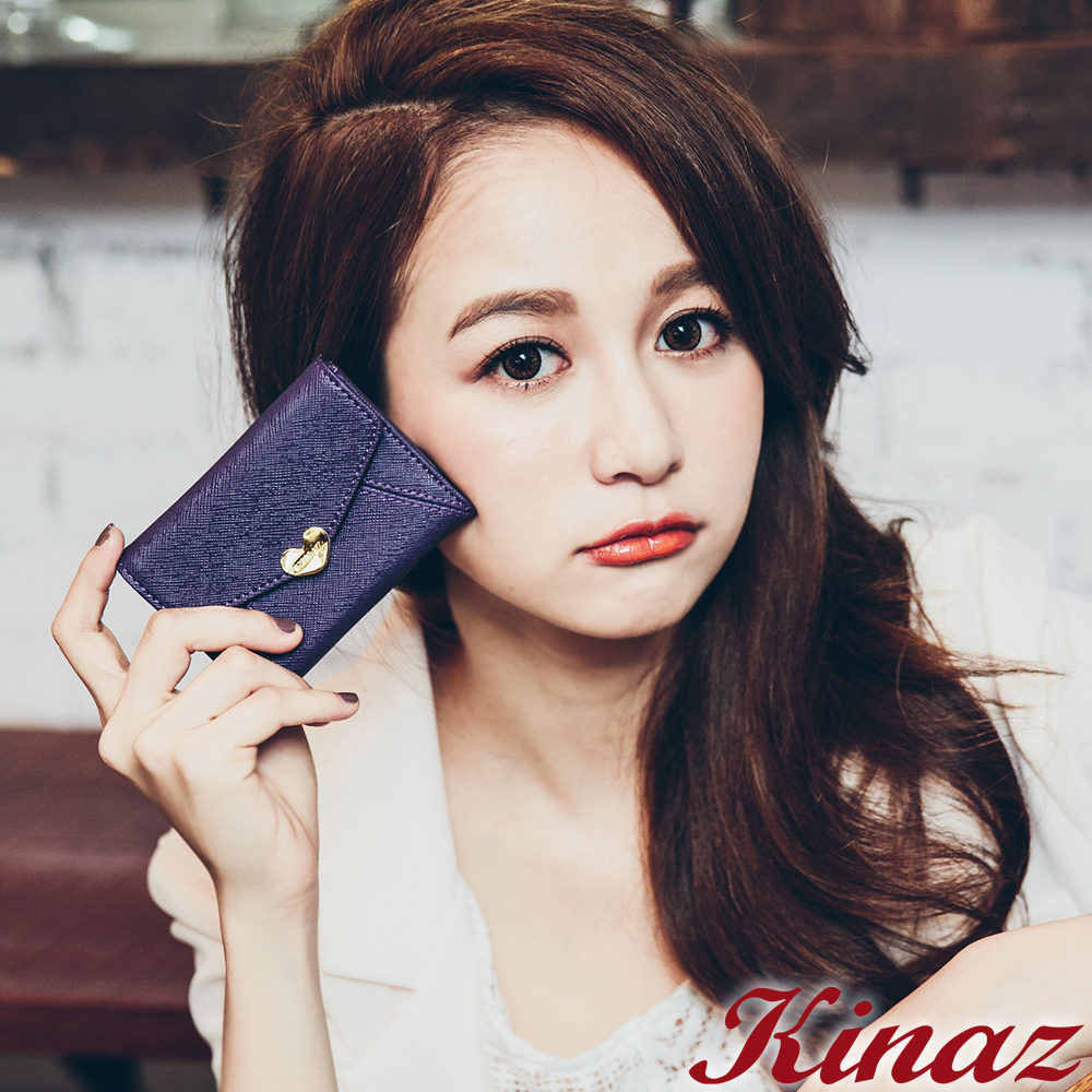 KINAZ - 最愛愛麗絲系列~戀愛童話信封卡片夾-幻想紫