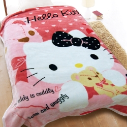 享夢城堡 HELLO KITTY 愛的抱抱舒眠毯
