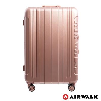 AIRWALK LUGGAGE - 金屬森林 鋁框行李箱 28吋ABS+PC鋁框箱-玫銅金
