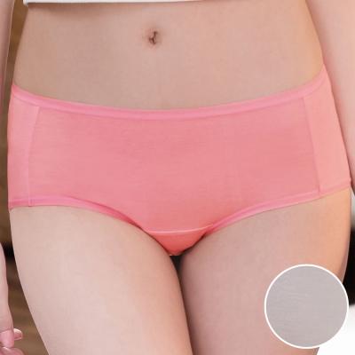 華歌爾 環保奈米級 咖啡紗M-LL中腰三角褲(藕灰)