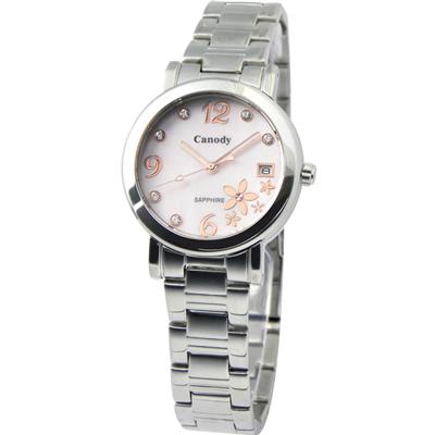 Canody  舞動花心晶鑽時尚腕錶-粉彩珍珠貝/ 32 mm
