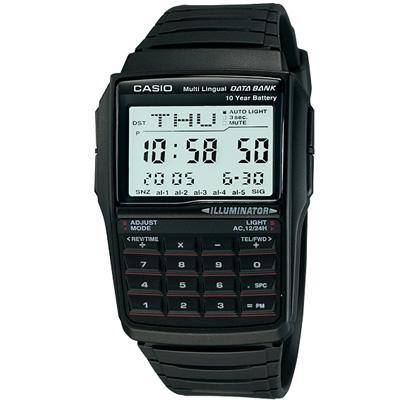 CASIO 行動祕書8位元計算機錶(DBC-32-1A)-黑/37.4mm