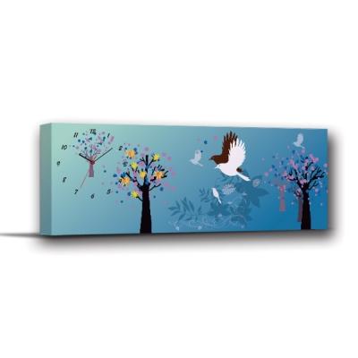 美學 365  - 單聯式無框藝術掛畫時鐘 - 幸福 30 x 80 cm
