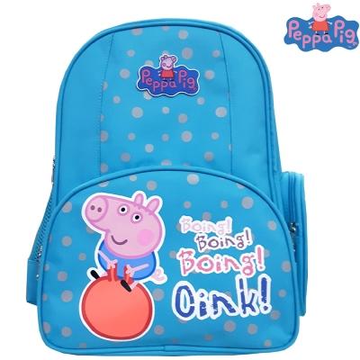 【Peppa Pig 粉紅豬】佩佩豬-喬治護脊書包302C(天空藍_氣球款_PP-5746