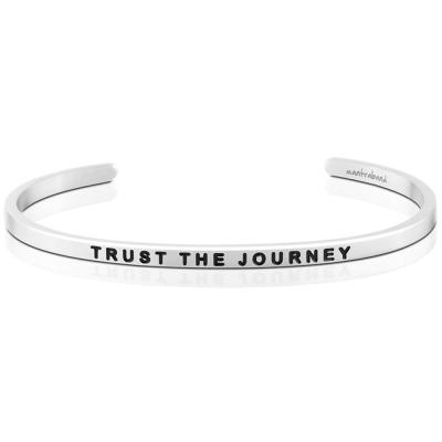MANTRABAND Trust the Journey 銀色手環 讓我的人生旅程變精采