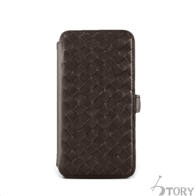 STORY皮套王 SAMSUNG S6 硬殼式側翻編織 客製化皮套