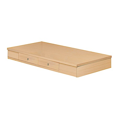 H&D 方型橡木3.5尺抽屜底 (寬106X深188X高24cm)
